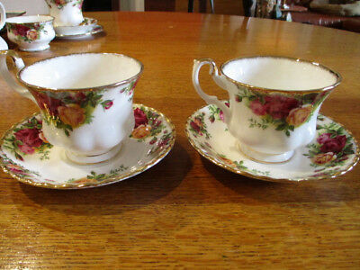 Royal Albert Old Country Roses Two Tea Cups And Saucers