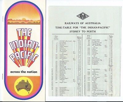 Brochure & Timetable for the Commencement of the INDIAN PACIFIC