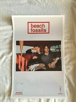 beach fossils - somersault    Promo poster  - mint