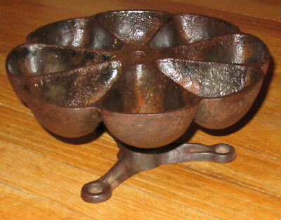Cast Iron Star Nail Cup Rotate Caddy Holder Hardware Store Tool Bin Tray Cobbler