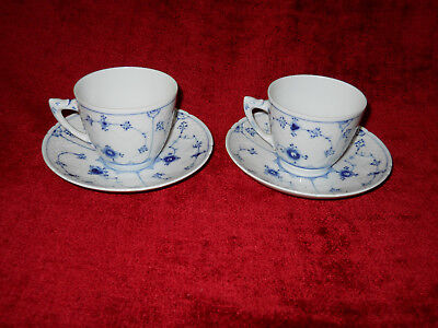 """Bing & Grondahl blue traditional  cup and saucer 2 1/4"""" tall 3 1/8"""" across"""