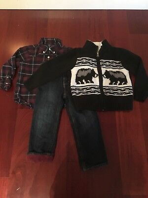 ❤️VGUC❤️3 Piece Boys Winter Outfit BabyGap Carters Old Navy❤️Sz 3T