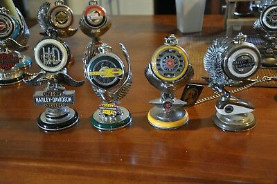 harley davidson collectors franklin mint watches with stands x4