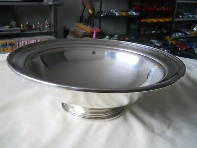 International Sterling Silver Pedestal Bowl 377 grams 10.5""
