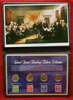 US Commemorative Gallery, United States Founding Fathers Coin Stamp Collection