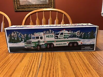Hess 1995 Toy Truck And Helicopter - Nib!