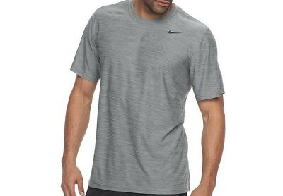 d736075a4ded64 Mens Nike Breathe Dri Fit Athletic Shirt S Crew Speed Dry Polyester Gray New