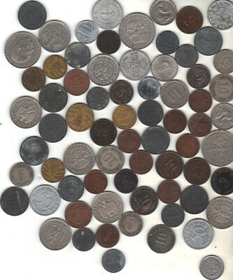 Germany Lot Of 70 Old Coins 1800S And Up