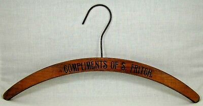 Vintage Wood Advertising Hanger-Compliments of S. Fritch