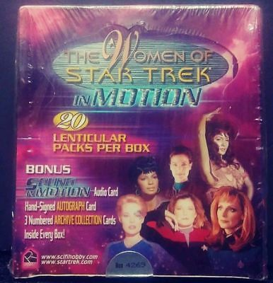 the Women of Star Trek in Motion sealed trading cards box auto