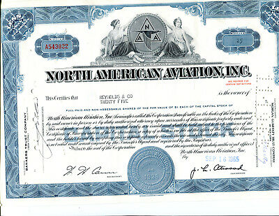 2 Different North American Aviation Stock Certificates