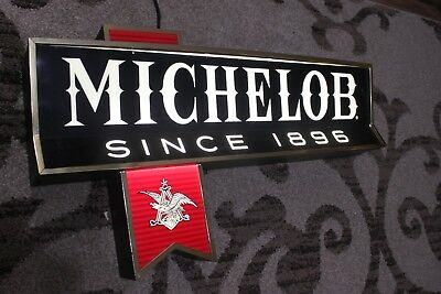 Vintage Michelob Beer Sign Light by Pull Chain