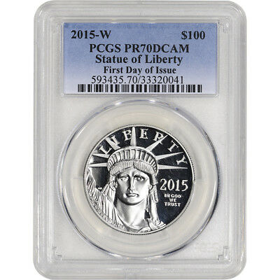 2015-W American Platinum Eagle Proof (1 oz) $100 - PCGS PR70 First Day of Issue
