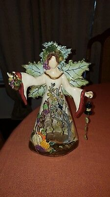 "Blue Sky Clayworks Goddess 2004 Heather Goldminc 12"" Tall RARE"