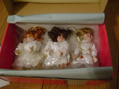 Vintage Marie Osmond Heaven's Helpers Christmas Doll Ornaments Home For Holidays