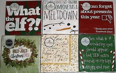 """CHRISTMAS COCKTAIL NAPKINS  10"""" X 10""""   3 Ply  ASSORTED TITLES [Your Choice}"""