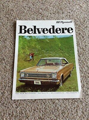 1966 Plymouth  Belvedere  original dealership showroom sales catalogue from cana