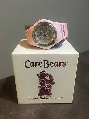 Super Rare - Care Bears Sweet Sakura Bear Watch - Casio Baby G Shock Japan only!