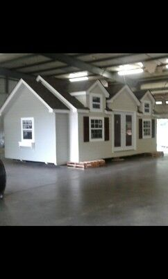 """Tiny House Cottage Style Portable Building Shell  14' 7"""" x 24' x 12'7 """""""
