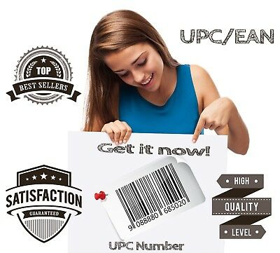 10000 UPC Numbers Barcode EAN numbers for E-commerce Lifetime Guarantee