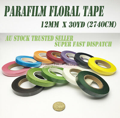 Paper Para Film Floral Stretch Tape Wedding Bouquet Stem Wrap Craft Waterproof