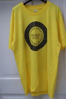 "Rare! Elton John Tour T-Shirt 1992 ""the One"" Versace Yellow Xl"