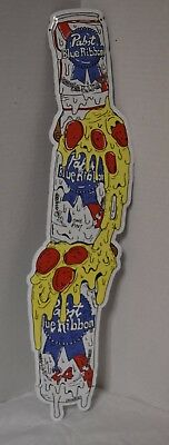 "Pabst Blue Ribbon Beer, Pizza 24"" X 5.5"" Tin Metal Sign New"