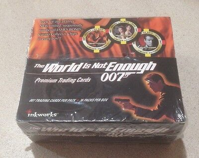 "1999 Inkworks ""James Bond - The World Is Not Enough"" - Factory Box - 36 Packs"