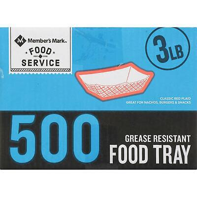 Member's Mark 3 lb. Capacity Food Tray (500 ct.)