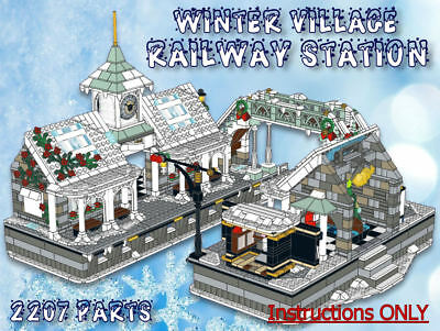 Lego Winter Village Railway Station -INSTRUCTIONS ONLY- fits 10259 10222 etc
