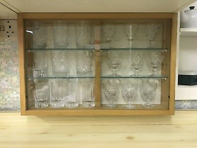 Rare Kandya Double Glass Wall Unit Frank Guille X2
