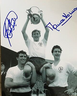 Bobby Smith & Maurice Norman signed 10x8 Tottenham photo UACC AFTAL Image B