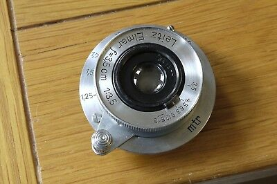 Leica Leitz Rare Wartime 1940 3.5cm F3.5 Elmar Mint Unrestored