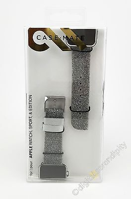 Case-Mate Apple Watch Brilliance Band 38mm Leather & Crystal | Silver | CM032789