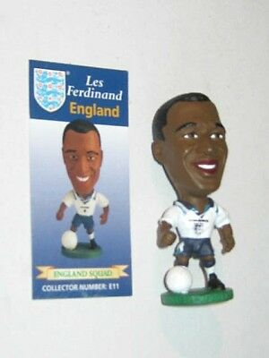 Corinthian 1995 Les Ferdinand. E11. England Football Figure & Collector Card.