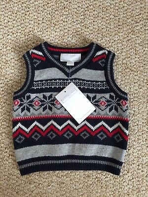 Little White Company 3-6 Boys Xmas Tank Top BNWT