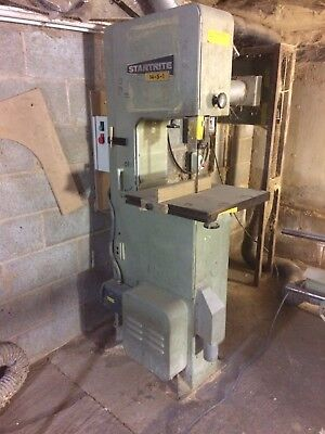 Startrite Bandsaw 14-S-1. DC braked Extraction ready. 3 Phase. Adjustable throat