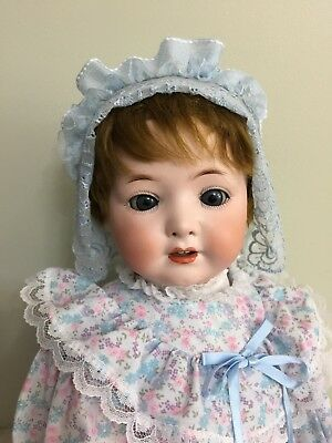 """Antique Bisque Doll By Heubach Koppelsdorf 320.4 On A Comp Toddler Body 20 """""""