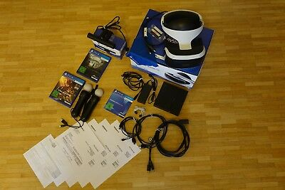 Sony PlayStation VR Headset + Kamera + zwei Move Controller + 2 VR Spiele
