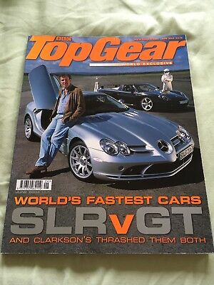 Top Gear Magazine Jun 04 issue 129 - McLaren SLR, Carrera GT, Elise S1