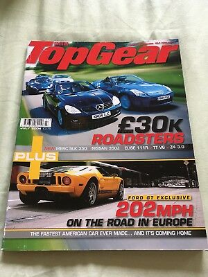 Top Gear Magazine Jul 04 issue 130 - Ford GT, £30k roadsters, E39 M5