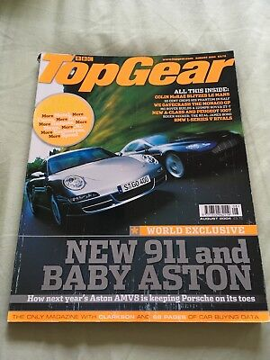 Top Gear Magazine Aug 04 issue 131 - Porsche 997, V8 Vantage, Gibbs Aquada