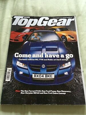 Top Gear Magazine Oct 04 issue 133 - MG SV, Noble M400, TVR T350t, Ferrari 430