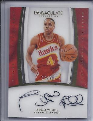 2016-17 Immaculate Basketball Historical Significance Signatures Spud Webb /99