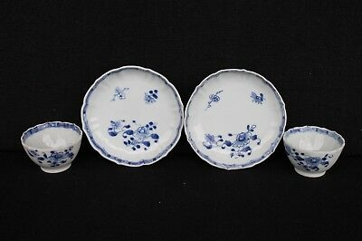 Two Qianlong teabowls and saucers Chinese export