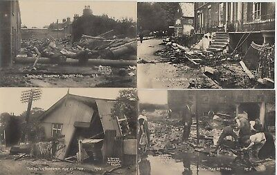 1920 unused lot of 10 x Louth disaster postcards by W Benton