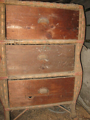 DEPRESSION ERA BOX CASE 1930s DRAWER SET  WITH CAN WRAPPING NEEDS WORK