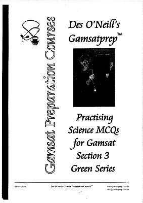 GAMSAT Material Des O'Neill - 1300 pages of Questions, Essay Course and TIPS