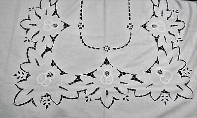 Pretty Cutwork Tablecloth