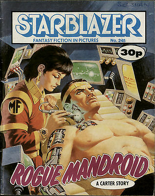 Rogue Mandroid,starblazer Fantasy Fiction In Pictures,comic,no.245,1989